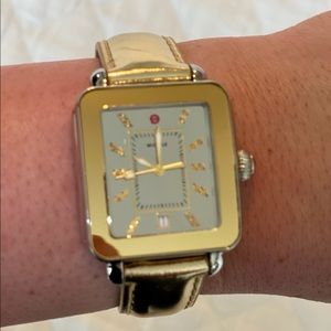 Michele Deco Sport Two Toned Gold Watch